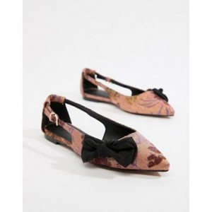 ASOS DESIGN Lovelier pointed bow ballets flats