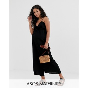 ASOS DESIGN Maternity cami jumpsuit with gathered bodice detail