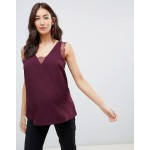 ASOS DESIGN Maternity deep plunge lace insert camisole tank