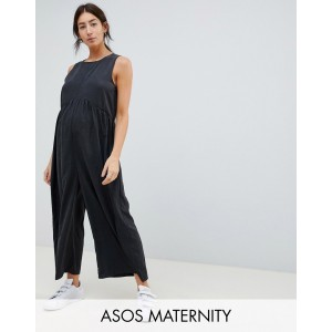 ASOS DESIGN Maternity minimal jumpsuit with ruching detail