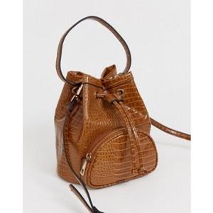ASOS DESIGN mini croc bucket bag