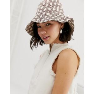 ASOS DESIGN monogram bucket hat