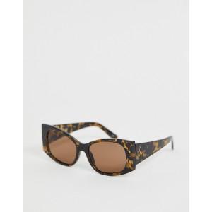ASOS DESIGN oversized angled square sunglasses