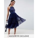 ASOS DESIGN Petite cami tulle prom dress dress with layered skirt