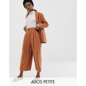 ASOS DESIGN Petite gutsy linen culottes