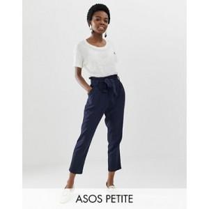 ASOS DESIGN Petite linen tie waist tapered peg pants