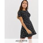 ASOS DESIGN Petite ultimate mini tea dress in polka dot