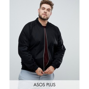 ASOS DESIGN Plus bomber jacket in black