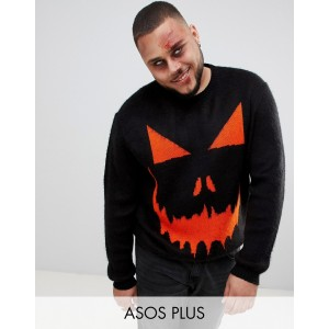 ASOS DESIGN Plus halloween pumpkin sweater