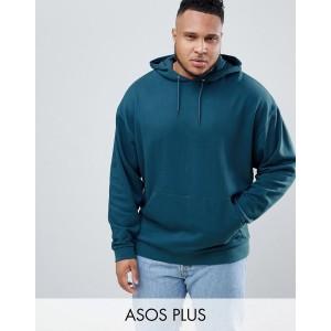 ASOS DESIGN plus oversized hoodie in dark blue