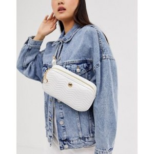 ASOS DESIGN quilted fanny pack with stud detail