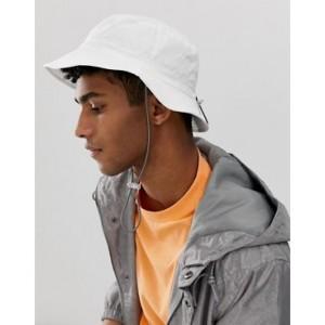 ASOS DESIGN safari hat in white with cord detail