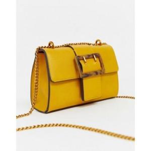 ASOS DESIGN shoulder bag with tort buckle