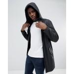 ASOS DESIGN shower resistant rain coat in black