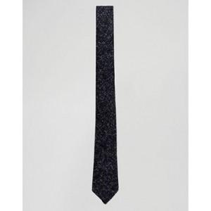 ASOS DESIGN slim tie in textured nepp navy