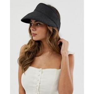 ASOS DESIGN straw wrap around visor