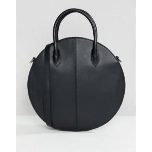 ASOS DESIGN structured leather circle shopper bag