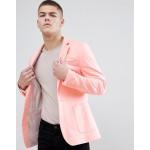 ASOS DESIGN super skinny blazer in peach jersey
