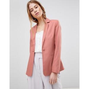ASOS DESIGN tailored single breasted linen blazer
