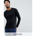 ASOS DESIGN Tall long sleeve t-shirt with crew neck in black