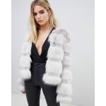 ASOS DESIGN textured faux fur coat