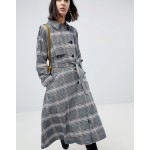 ASOS DESIGN Trench In Check