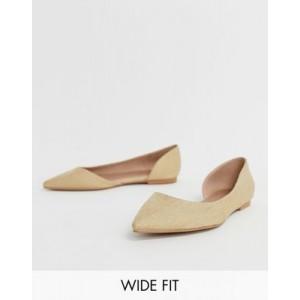 ASOS DESIGN Wide Fit Virtue dorsay pointed ballet flats
