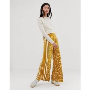 ASOS DESIGN wide leg pants in spot and stripe print