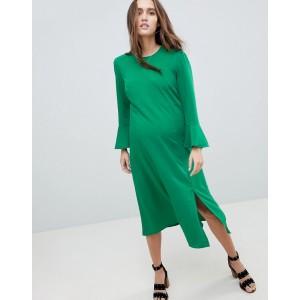 ASOS Maternity Fluted Sleeve Midi Dress with Split