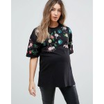 ASOS Maternity TALL T-Shirt with Floral Embroidery