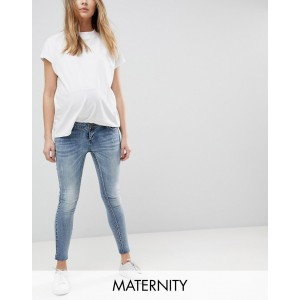 Bandia Maternity over the bump ankle grazer skinny jean with removable bump band