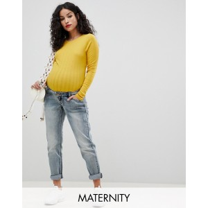 Bandia Maternity over the bump mom jean with removable bump band