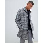 Bellfield Wool Overcoat In Gray Houndstooth Check