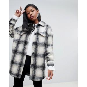 Bershka check coat