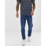 Bershka slim fit jeans in mid blue