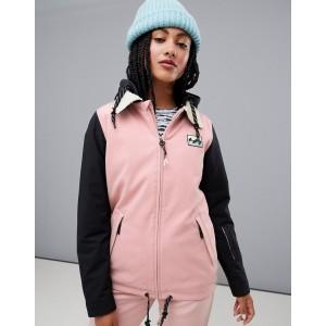 Billabong Coastal ski jacket in pink