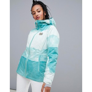 Billabong Sula printed ski jacket in blue