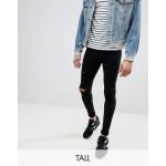 Blend tall flurry black knee rip extreme skinny jeans