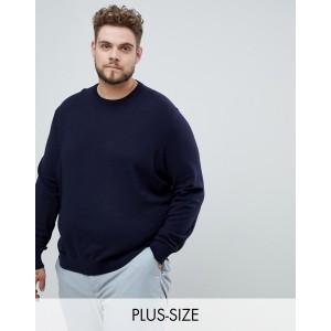 Burton Menswear Big & Tall crew neck sweater in navy