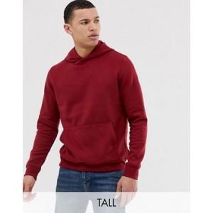 Burton Menswear Big & Tall hoodie in red marl