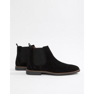Burton Menswear chelsea boots in black