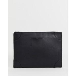 Burton Menswear faux leather document holder in black