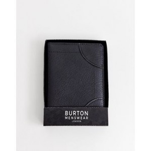 Burton Menswear faux leather passport holder in black