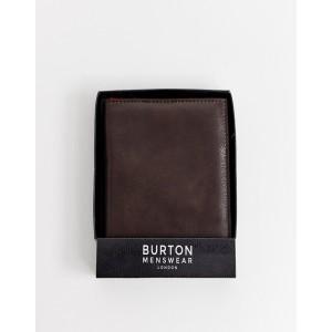 Burton Menswear faux leather passport holder in dark brown