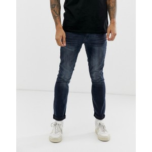 Burton Menswear skinny jeans in vintage dark wash