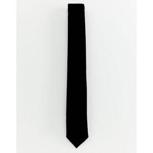 Burton Menswear tie in black velvet