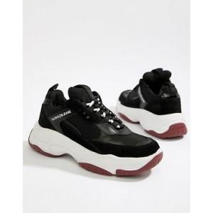 Calvin Klein Black Maya Mesh And Suede Fashion Sneakers