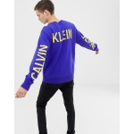 Calvin Klein Jeans institutional back logo sweat blue