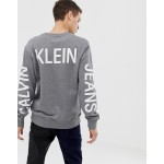 Calvin Klein Jeans institutional back logo sweat grey
