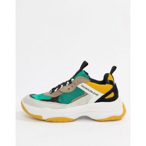 Calvin Klein Mint Multi Maya Mesh And Suede Fashion Sneakers